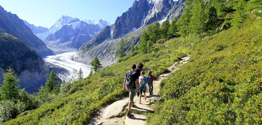 Walking towards the Mer du Glace